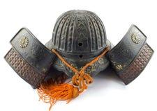 Antique Iron Samurai Helmet Royalty Free Stock Photos