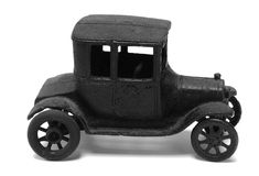 Antique iron toy car. On white backgroundn Stock Image