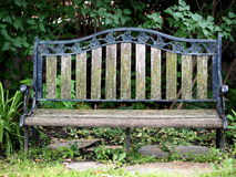 Antique Iron And Wood Bench Royalty Free Stock Photos