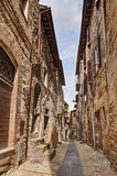 Antique Italian alley Royalty Free Stock Photos
