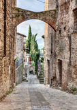 Antique Italian alley Stock Images