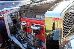 Antique italian car engine Royalty Free Stock Photos