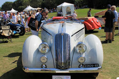 Antique italian car front view Royalty Free Stock Photos