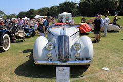 Antique italian car front view Royalty Free Stock Photo
