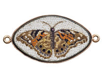 Antique Italian glass butterfly mosaic Royalty Free Stock Photo