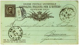 Antique italian postcard royalty free stock photography