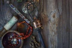 Antique items for alternative medicine Stock Image