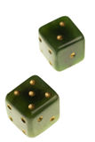 Antique jade dice Stock Image