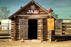 Antique Jail. Old historic antique jail on the legendary Route 66 Stock Photo