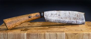 Antique Japanese Cleaver. Royalty Free Stock Photos