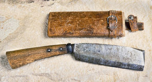 Antique Japanese Cleaver. Royalty Free Stock Photo