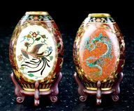 Antique Japanese Cloisonne royalty free stock photography