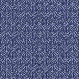 Antique japanese fancywork. Sashiko. Seamless pattern. Royalty Free Stock Images