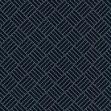 Antique japanese fancywork. Sashiko. Seamless pattern. Royalty Free Stock Photography
