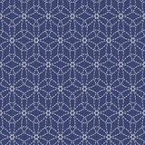 Antique japanese fancywork. Sashiko. Seamless pattern. Royalty Free Stock Photography
