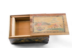 Antique Japanese puzzle box Stock Image