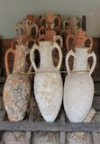 Antique jars and amphorae from the bottom of the Aegean Sea Royalty Free Stock Images