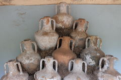 Antique jars and amphorae from the bottom of the Aegean Sea Stock Photography