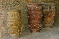 Antique jars at Knossos Royalty Free Stock Image