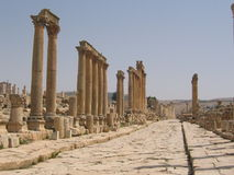The antique Jerash Stock Photo