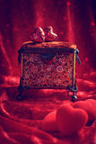 Antique Jewel Casket Royalty Free Stock Images