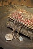 Antique jewelry box stock photography