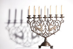 Antique jewish menorah Royalty Free Stock Image