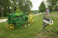 Antique John Deere tractor Stock Images