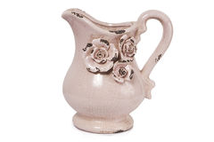 Antique Jug. Isolated with clipping path Stock Photos