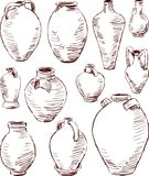 Antique jugs Stock Photo