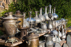 Antique jugs and dishes royalty free stock image