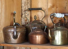 Antique Kettles Royalty Free Stock Photography