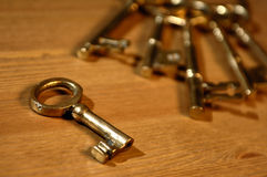Antique key Stock Image