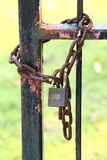 Antique key and chain Royalty Free Stock Image
