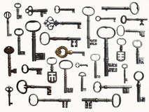 Antique Key Collection royalty free stock photography