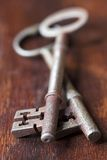 Antique key - shallow dof Royalty Free Stock Image