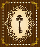 Antique Key tapestry background. Stock Images