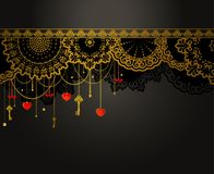 Antique Key tapestry background. Stock Image