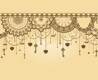 Antique Key tapestry background. Stock Photos