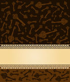 Antique Key tapestry background. Royalty Free Stock Photo