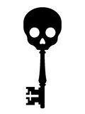 Antique key topped with a skull Royalty Free Stock Photo