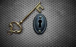 Antique key vault Stock Photography