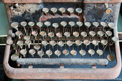 Antique keyboard Royalty Free Stock Images