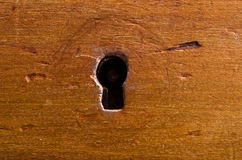 Antique Keyhole. Closeup of a very old keyhole Royalty Free Stock Photos