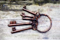 Antique keys Stock Photography