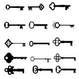 Antique keys Stock Photo