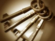 Antique Keys - Brown Royalty Free Stock Images