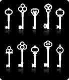 Antique keys collection Royalty Free Stock Photography