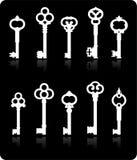 Antique keys collection. Original illustration: antique keys collection Royalty Free Stock Photography
