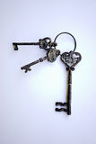 Antique keys on master ring. Is there a key to your heart here Stock Image